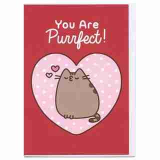 Paper E. Clips Valentines Card Pusheen Big Heart