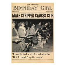 Paper E. Clips Birthday Card Male Stripper