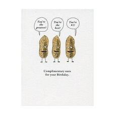 Paper E. Clips Birthday Card Complimentary Nuts