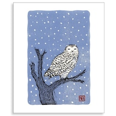 Holiday Card Snowy Owl