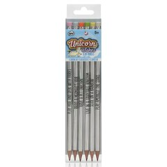 Unicorn Holographic Pencils, Set of 6