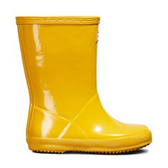 HUNTER KIDS FIRST CLASSIC RAIN BOOT, GLOSS YELLOW SIZE 9