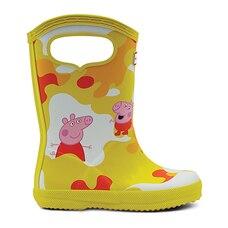 Hunter® PEPPA MUDDY PUDDLES Rain Boots Wader Yellow Size 8