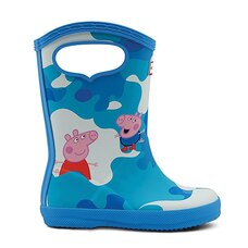 Hunter® PEPPA MUDDY PUDDLES Rain Boots Forget Me Not Blue Size 5
