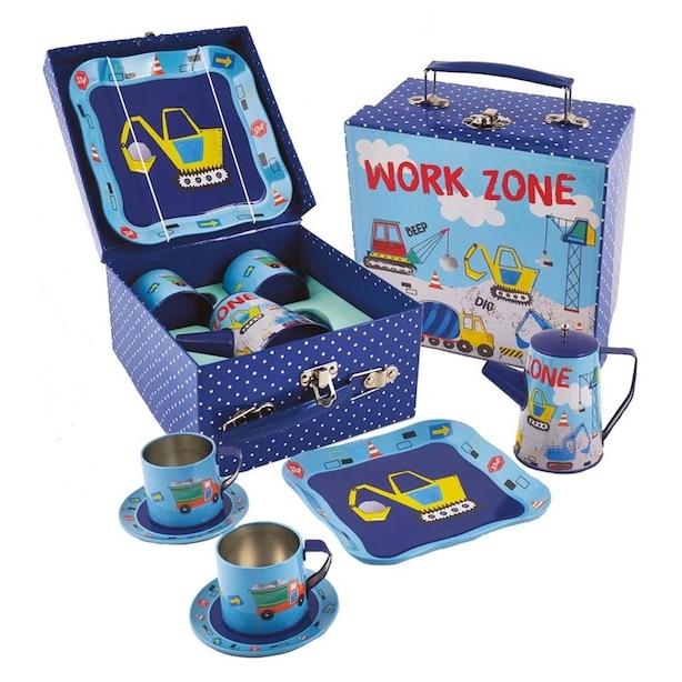 Construction Tin Tea Party Set