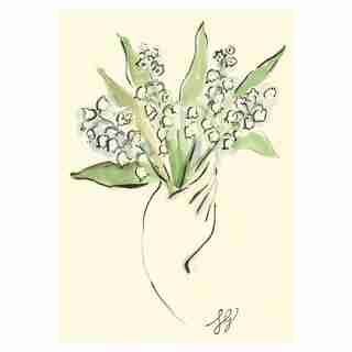 Everyday Greeting Card Lily of the Valley