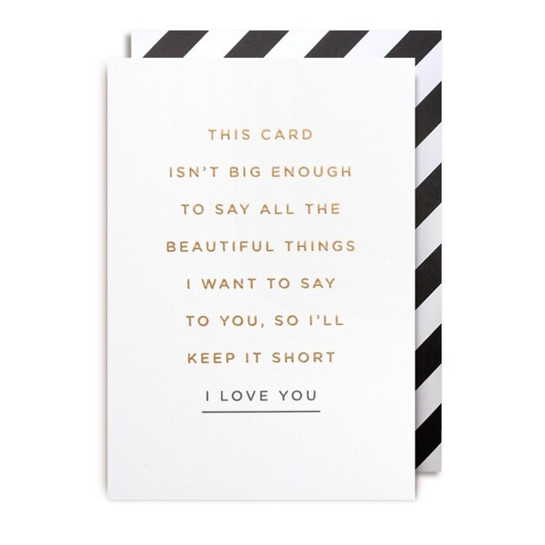 Paper E. Clips Friendship Card I Love You