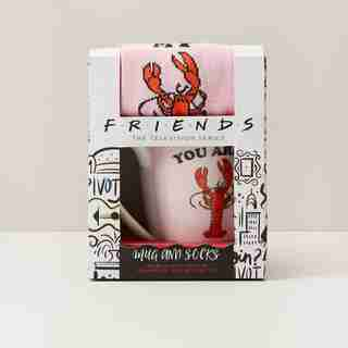 Friends Sock & Lobster Mug Set