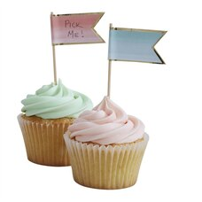 Ginger Ray Pick & Mix Cupcake Sticks Ombre 10