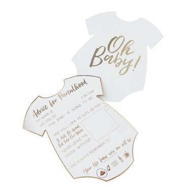 Ginger Ray Oh Baby! Baby Shower Advice Cards - Set of 10