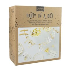 Ginger Ray Party In A Box - Happy Birthday - Gold