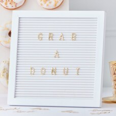 GINGER RAY WHITE PEG BOARD WITH GOLD LETTERS