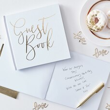 GINGER RAY GUEST BOOK GOLD FOILED