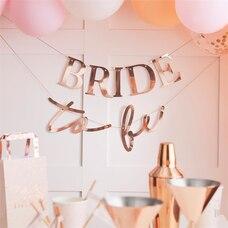 BANDEROLE BLUSH ''BRIDE TO BE'' OR ROSE POUR ENTERREMENT VIE DE JEUNE FILLE