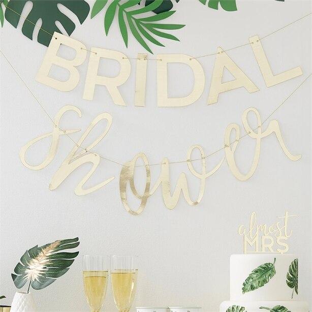BOTANICAL SHOWER BRIDAL SHOWER GOLD BUNTING