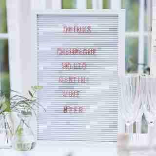 BOTANIC WEDDING SHOWER LARGE PEG BOARD