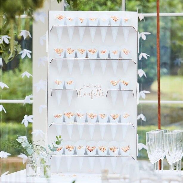 BOTANIC WEDDING - SUPPORT CONFETTI AVEC CONES