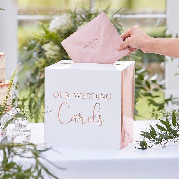 BOTANIC WEDDING BRONZE FOILED CARD BOX