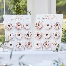 BOTANIC WEDDING BRONZE FOILED DONUT STANDS