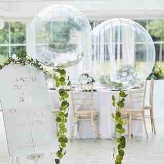 BOTANIC WEDDING - BOTANICAL SHOWER - ORBE TRANSPARENTE AVEC FLEURS