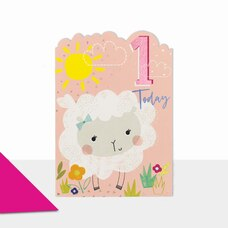 Paper E. Clips Birthday Card 1 Sheep