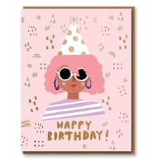 Paper E. Clips Birthday Card Party Girl