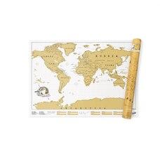 Carte À Gratter de Voyage
