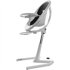Mima Moon 2 Baby/Toddler Chair White with Seat Pad Black