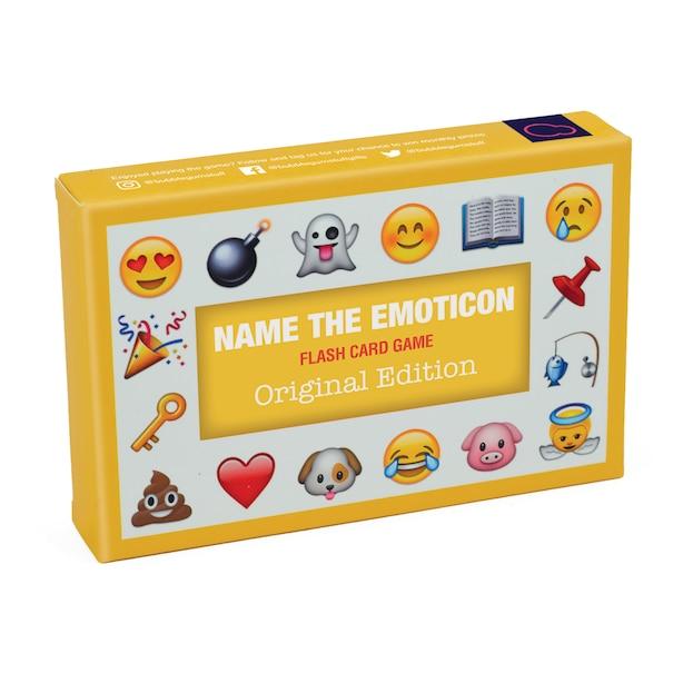 BUBBLEGUM STUFF NAME THE EMOTICON - ORIGINAL CARD GAME YELLOW 56 CARDS