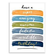 Paper E. Clips Birthday Card Super Birthday