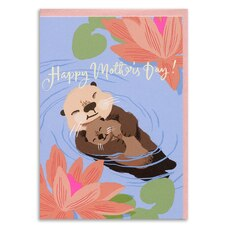 Paper E. Clips Mother's Day Card Otters