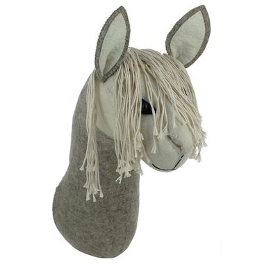 Fiona Walker England Animal Head Wall Decoration Llama Head Grey