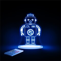 Aloka Starlights Robot LED Night Light