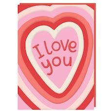 Paper E. Clips Valentine Card I Love You