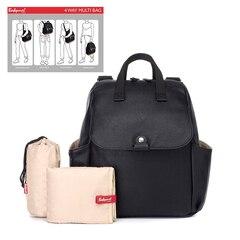 Storksak® Robyn Convertible Diaper Bag Backpack Faux Leather Black