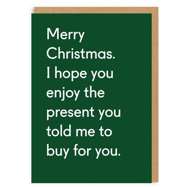 Holiday Card Enjoy the Presents