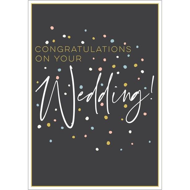 Paper E. Clips Wedding Card Wedding Dots