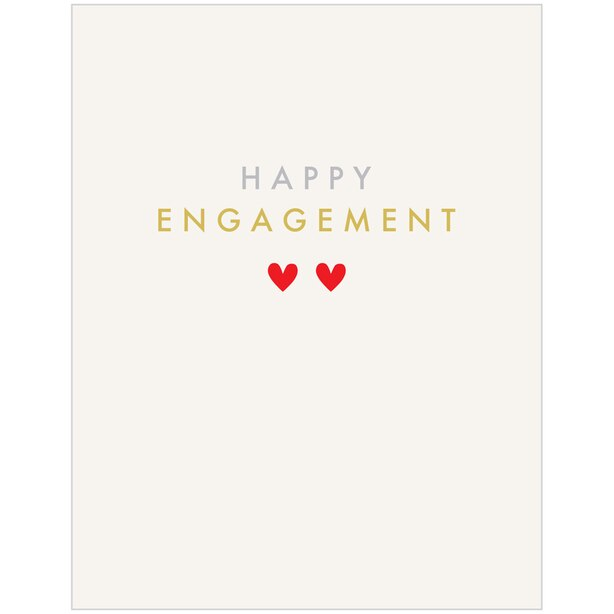 Paper E. Clips Engagement Card Engagement Hearts
