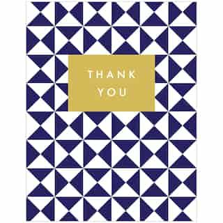 Thank You Card Blue