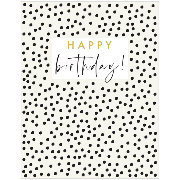 Paper E. Clips Birthday Card Birthday Dots