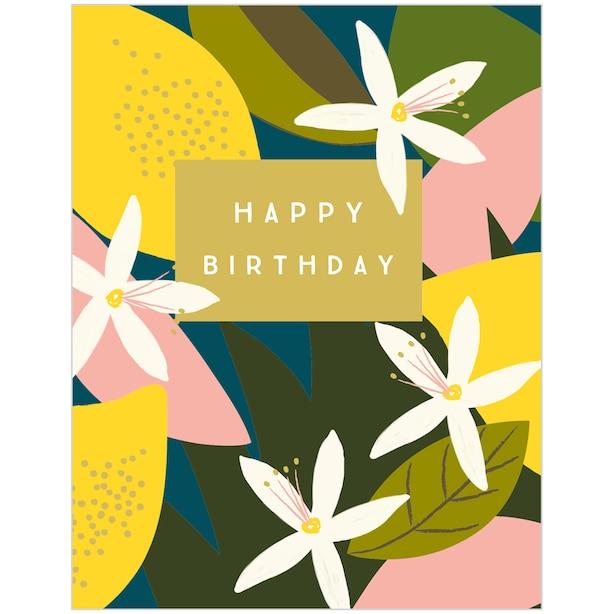 Paper E. Clips Birthday Card Birthday Lemon