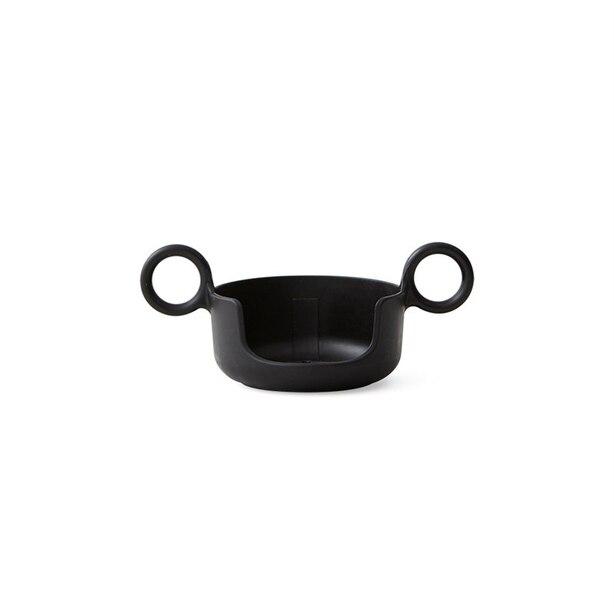 DESIGN LETTERS HANDLE FOR MELAMINE CUP - BLACK