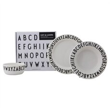 DESIGN LETTERS MELAMINE EAT & LEARN GIFTBOX