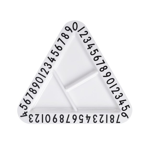 Design Letters® Kids Sectional Melamine Plate Letters Triangle