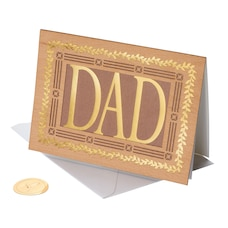 Papyrus Father's Day Card Wood Lettering