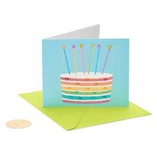 Papyrus Birthday Card Rainbow Cake
