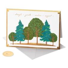 Carte de la fête des Pères Papyrus forêt