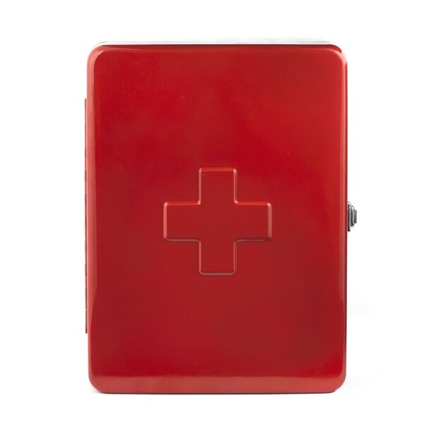 LARGE FIRST AID CABINET RED