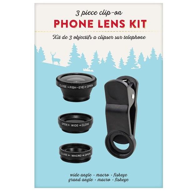 PHONE LENS KIT - 3 lenses