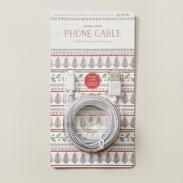 EXTRA LONG PHONE CABLE 6 FEET